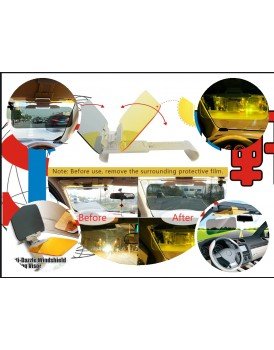 New Shine Car Windshield Visor Night Anti-Glare - New Shine Premium Quality Universal Sunshade and Night Vision Anti-Dazzle Windshield Driving Vision