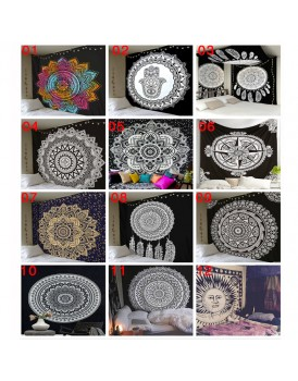 New Shine Classical Black And White Cloth tapestry,multi-function Tapestry 146*146cm, Table cloth, Wall cloth, Wearable Beach Blanket