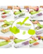 New Shine Vegetable Slicer Dicer Food Chopper Cuber Cutter, Cheese Grater Multi Blades for Onion Potato Tomato Fruit Extra Peeler