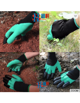 New Shine Gardening gloves ABS claw protective durable nylon latex anti water digging garden genie gloves for plantation
