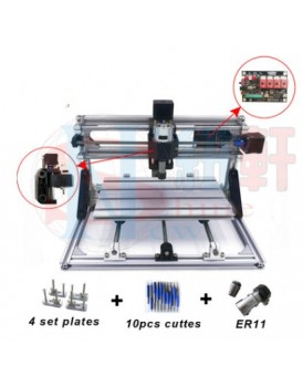 New Shine 3018 DIY  mini CNC engraving machine + laser machine(2 in 1 engraving machine) Can engrave metal ( soft metal with paint)