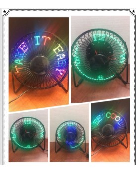 New Shine  USB LED FAN CLOCK AND TEMP. INDICATES BOTH TIME AND TEMPERATURE IN F & C