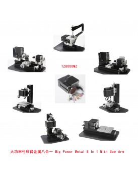 New Shine  8 In 1 With Bow Arm Metal mini machine kit in box Z8000MZG