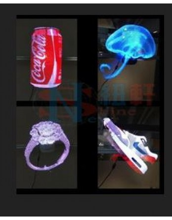 New Shine 3D Hologram Advertising Display LED Fan, Holographic 3D Photos and Videos - 3D Naked Eye LED Fan is Best for Store, Shop, Bar, Casino, Holiday Events Display Etc. with sd card