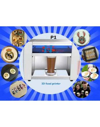 New Shine 3D Food Printer ( Coffee latte Art , Cookies 3d Printing , Nail Art) 3 in 1  3d Printer