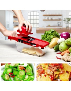 New Shine Vegetable Chopper Cutter ABS Kitchen Multifunctional Vegetable Cutter Red tools