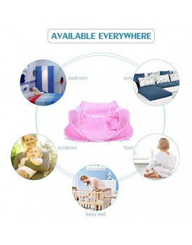 New Shine Mosquito net for Baby: 0-36 Months Baby Bed Portable Foldable Baby Crib With Netting Newborn Sleep Bed