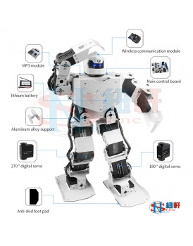 New Shine  16DOF Humanoid Robot with mobile control