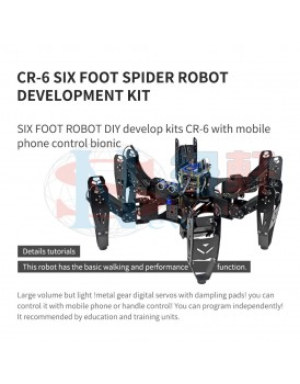 New Shine CR-6 six foot spider robot development kit