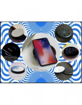 New Shine Fast Wireless Charger, Qi Certified Wireless Charging Pad 7.5W Compatible with iphone and 10w – Black,white